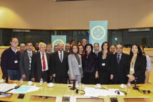 EP President with the network of Mayors of the Mediterranean Eco-Towns Project.