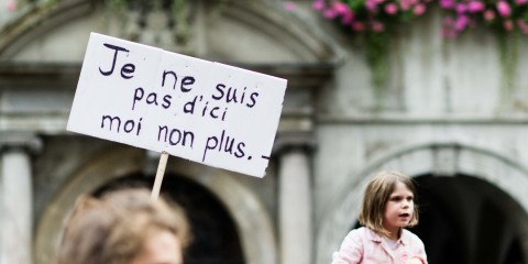 Gustave Deghilage  Manifestation Stop Dublin - #RefugeesWelcome #openeurope  (Lausanne, le 15 septembre 2015)